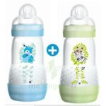 MAM BIBERON EASY START anti-colique 260 ml lot de 2_ BLEU & VERT à Saint-Cyprien