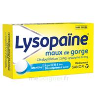 LysopaÏne Comprimés à Sucer Maux De Gorge Sans Sucre 2t/18 à Saint-Cyprien
