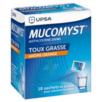 MUCOMYST 200 mg Poudre pour solution buvable en sachet B/18 à Saint-Cyprien