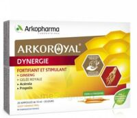 Arkoroyal Dynergie Ginseng Gelée Royale Propolis Solution Buvable 20 Ampoules/10ml à Saint-Cyprien
