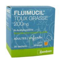 FLUIMUCIL EXPECTORANT ACETYLCYSTEINE 200 mg SANS SUCRE, granulés pour solution buvable en sachet édulcorés à l'aspartam et au sorbitol à Saint-Cyprien