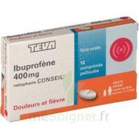 IBUPROFENE TEVA CONSEIL 400 mg, comprimé pelliculé à Saint-Cyprien
