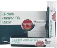 CALCIUM VITAMINE D3 TEVA 500 mg/400 UI, comprimé à sucer ou à croquer à Saint-Cyprien