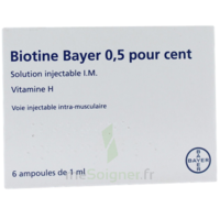 BIOTINE BAYER 0,5 POUR CENT, solution injectable I.M. à Saint-Cyprien