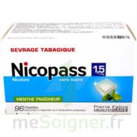 Nicopass 1,5 Mg Pastille Sans Sucre Menthe Fraîcheur Plq/96 à Saint-Cyprien