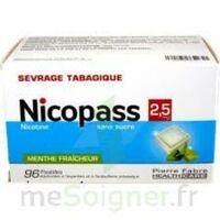 Nicopass 2,5 Mg Pastille Menthe Fraîcheur Sans Sucre Plq/96 à Saint-Cyprien