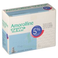 AMOROLFINE TEVA 5 % Vernis ongl médic médicamenteux 1Fl ver/2,5ml+spat à Saint-Cyprien