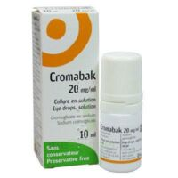 CROMABAK 20 mg/ml, collyre en solution à Saint-Cyprien