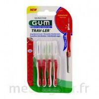 GUM TRAV - LER, 0,8 mm, manche rouge , blister 4 à Saint-Cyprien