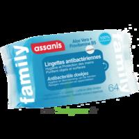 Assanis Family Lingette antibactérien mains Pochette/64 à Saint-Cyprien