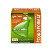 Nicorette 2 Mg Gomme à Mâcher Médicamenteuse Sans Sucre Fruits Plq/210 à Saint-Cyprien