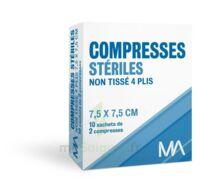 Marque Conseil Compresse stérile non tissé 7,5x7,5cm 10 Sachets/2 à Saint-Cyprien