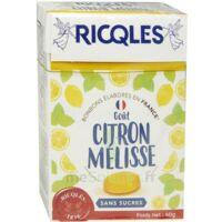 Ricqles Sucres Cuits Bonbon Citron Mélisse Sans Sucre B/40g à Saint-Cyprien