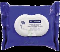Klorane Soins Des Yeux Au Bleuet Lingette Démaquillante Biodégradable Pack/25 à Saint-Cyprien