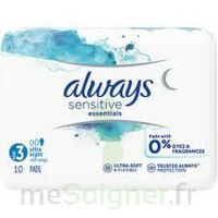 Always Serviettes Sensitives Essentials - Nuit à Saint-Cyprien