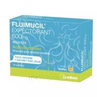 FLUIMUCIL EXPECTORANT ACETYLCYSTEINE 600 mg Glé s buv adultes 10Sach à Saint-Cyprien