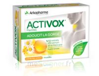 Activox Sans Sucre Pastilles Miel Citron B/24
