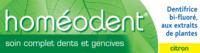 Boiron Homéodent Soin Complet Dents Et Gencives Pâte Dentifrice Citron 2t/75ml à Saint-Cyprien